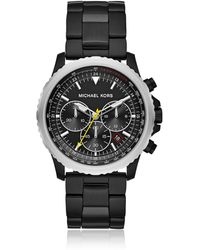 Michael Kors - Theroux Black Plated Chronograph Watch - Lyst