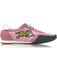 KENZO - Flamingo Pink Nylon And Suede Move Women's Trainers - Lyst
