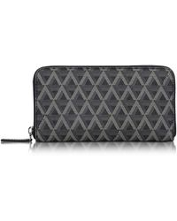 Lancaster Paris - Ikon Coated Canvas And Leather Zip Around Continental Wallet - Lyst
