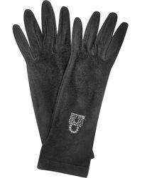 FORZIERI - Rhinestone Black Gloves - Lyst