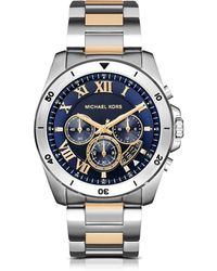 Michael Kors - Brecken Two-tone Stainless Steel Men's Chronograph Watch - Lyst