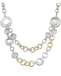 AZ Collection - Crystal Chain Opera Necklace - Lyst