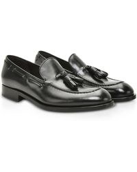Fratelli Rossetti - Black Brushed Leather Brera Loafer Shoes - Lyst