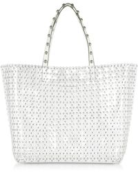 RED Valentino - Flower Puzzle Transparent Tote Bag - Lyst