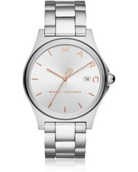 Marc Jacobs - Henry Silver Tone Women's Watch - Lyst