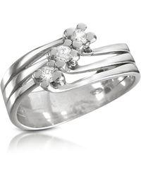 FORZIERI - 0.12 Ct Three-stone Diamond 18k Gold Ring - Lyst