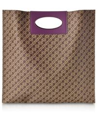 Gherardini - Millerighe Mystic Purple Signature Flat Tote Bag - Lyst