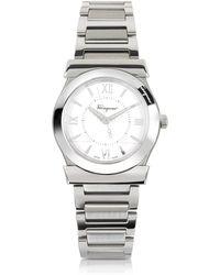 Ferragamo - Vega Silver Tone Stainless Steel Women's Watch - Lyst