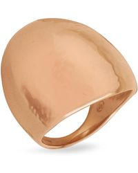 Torrini - Elena - Chiseled 18k Rose Gold Shield Ring - Lyst