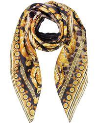 Versace | Beige Wild Baroque Print Silk Square Scarf | Lyst