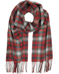 DSquared² - Red Checked Wool Blend Men's Scarf W/fringes - Lyst
