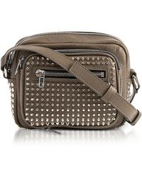 McQ - Loveless Dark Khaki Smooth Leather Crossbody Camera Bag W/studs - Lyst
