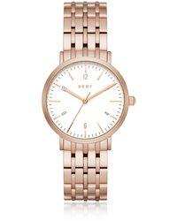 DKNY - Minetta Rose Gold Tone Women's Watch - Lyst