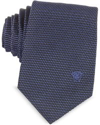 Versace | Woven Silk Narrow Tie W/medusa | Lyst