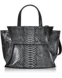 Ghibli - Python Leather Satchel Bag W/shoulder Strap - Lyst