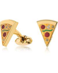 Paul Smith - Pizza Slice Golden Cufflinks - Lyst