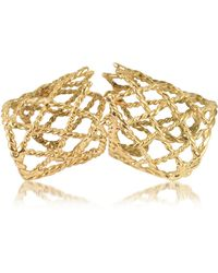 Bernard Delettrez - Gold Articulated Basket Weave Ring - Lyst