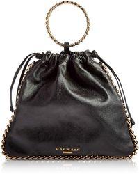 Balmain - Black Leather B-link Bracelet Backpack - Lyst