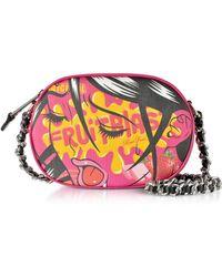 Moschino - Fruit Blast Comic Girl Fuchsia Eco Leather Oval Crossbody Bag - Lyst