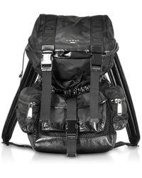 Balmain - Black Camouflage Nylon And Leather Elite Backpack - Lyst