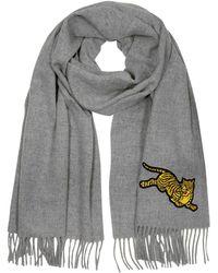 KENZO - Jumping Tiger Wool Scarf - Lyst