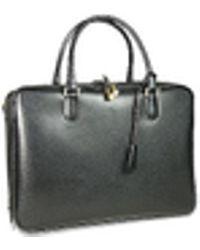Fontanelli - Black Lizard-print Calf Leather Briefcase - Lyst