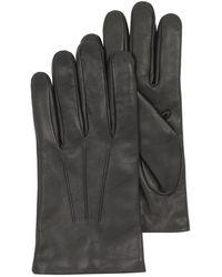 FORZIERI - Black Leather Handmade Men's Gloves W/wool Lining - Lyst