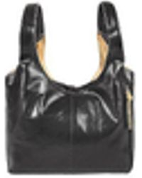 Fontanelli - Black & Tan Reversible Italian Leather Handbag - Lyst