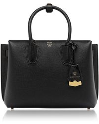 MCM - Black Leather Milla Small Tote - Lyst