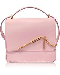 Sophie Hulme - Pastel Pink Medium Straw Bag - Lyst