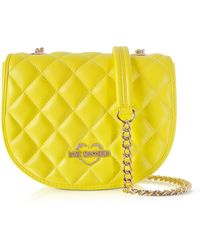 Love Moschino - Yellow Superquilted Eco-leather Small Crossbody Bag - Lyst