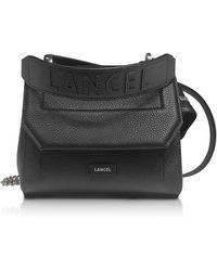 Lancel - Ninon Round Leather Small Flap Bag - Lyst