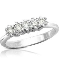 FORZIERI - 0.225 Ct Diamond 18k Gold Band Ring - Lyst