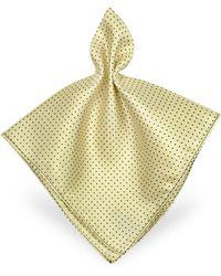 FORZIERI - Mini Polkadot Twill Silk Pocket Square - Lyst