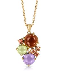 Mia & Beverly - Gemstones 18k Rose Gold Pendant Necklace - Lyst