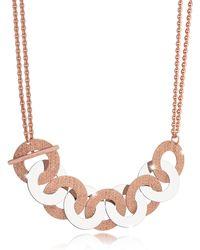 Rebecca - R-zero Rose Gold Over Bronze And Steel Maxi Chain Necklace - Lyst