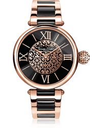 Thomas Sabo - Karma Rose Gold And Black Stainless Steel Women's Watch - Lyst