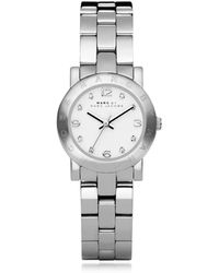 Marc By Marc Jacobs - Mini Amy 26 Mm Silver Tone Stainless Steel Women's Watch - Lyst