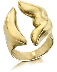 Bernard Delettrez - Mouth Bronze Ring - Lyst