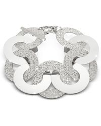 Rebecca - R-zero Rhodium Over Bronze And Steel Maxi Chain Bracelet - Lyst