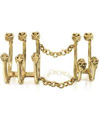 Bernard Delettrez - Articulated Bronze Ring W/10 Skulls - Lyst
