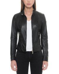 FORZIERI - Black Leather Women's Jacket W/zip Pockets - Lyst