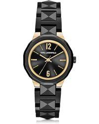 Karl Lagerfeld - Joleigh Black Iconic Women's Watch - Lyst