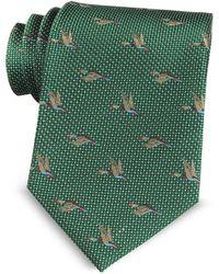 Marina D'este | Flying Duck Woven Silk Tie | Lyst