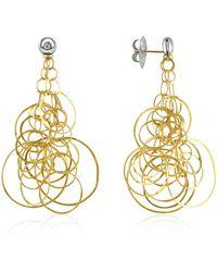 Orlando Orlandini - Scintille - Diamond 18k Gold Drop Earrings - Lyst