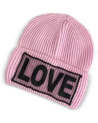 Versace | Love Knitted Wool Beanie Hat | Lyst