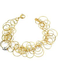 Orlando Orlandini - Scintille - Diamond 18k Yellow Gold Bracelet - Lyst