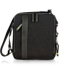 Bric's | Black Nylon And Leather Crossbody Bag | Lyst