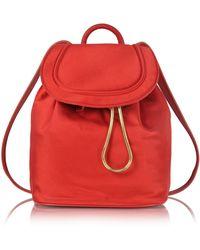 Diane von Furstenberg - Satin Backpack W/drawstring Flap Closure - Lyst