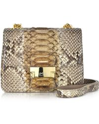Ghibli | Brown Python Mini Crossbody Bag | Lyst